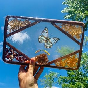 Epoxy Butterfly Tray Decor